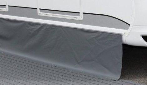 Standard lakókocsi szoknya sötétszürke, 400x50 cm