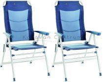 Brunner Kerry Slim 600 kempingszék, kék, 2 db