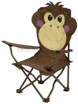 Állatfigurás összecsukható gyerekszék, majom