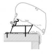 Thule/Omnistor adapter - Carthago Malibu, 350 cm