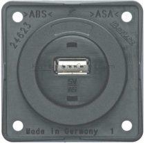 Berker Integro USB töltő csatlakozó 12 V, szürke