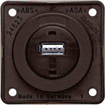 Berker Integro USB töltő csatlakozó 12 V, barna