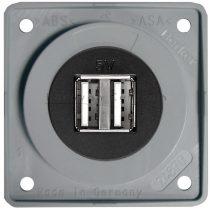 Berker Integro USB töltő csatlakozó 12 V dupla, szürke