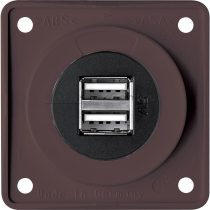 Berker Integro USB töltő csatlakozó 12 V dupla, barna
