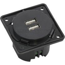 Berker Integro USB töltő csatlakozó 12 V dupla, antracit