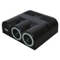 12 V-os szerelhető aljzat, 2+USB