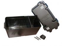 Akkumulátor tartódoboz fekete, 395 mm