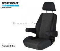 Sportscraft S  8.1 pilótaülés, Ara schwarz