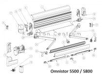 Támasztóláb Omnistor 5500/5800 előtetőhöz, 400-600 cm