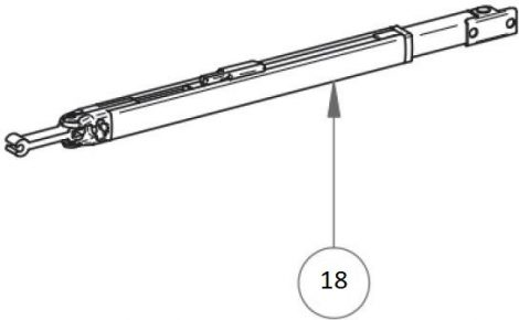 Thule/Omnistor 5003 láb, 190 cm hosszhoz