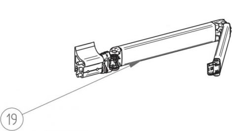 Thule/Omnistor 5003 csuklós kar, 260 cm, balos
