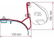 Fiamma F35 Pro adapter - VW T5/T6 Transporter, Multivan alusínes