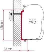 Fiamma F45 adapter AS 450