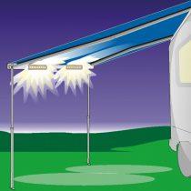 Fiamma F45-F65 előtető LED világítás