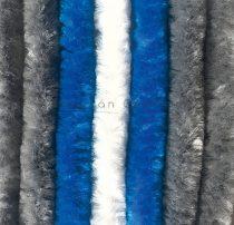 Arisol zsenilia függöny szürke-kék-fehér,  70x205 cm