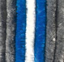 Arisol zsenilia függöny szürke-kék-fehér,  56x185 cm
