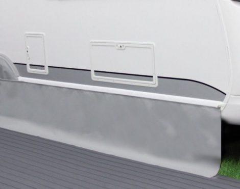Hindermann Premium 4 évszakos lakókocsi szoknya, világosszürke, 400 x 50 cm