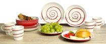 Gimex Classic Line Twist 16 db-os étkészlet, piros