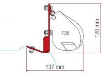 Fiamma F35 Pro adapter - Ford Custom 2016-