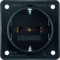 Berker Integro aljzat 230 V, fekete