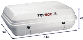 Thule Top-Box 130 - tetőbox 375 literes