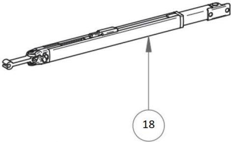Thule/Omnistor 5003 láb, 230 cm hosszhoz