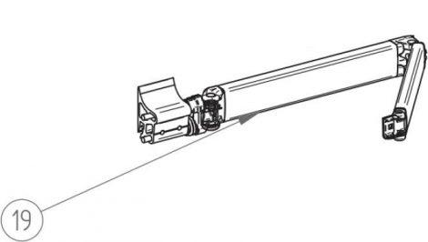 Thule/Omnistor 5003 csuklós kar, 300-450 cm, balos