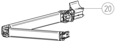 Thule/Omnistor 5003 csuklós kar, 300-450 cm, jobbos