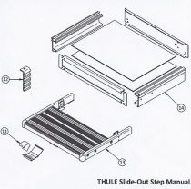 Thule Slide-Out Step Manual lépcsőlap nyitóretesz