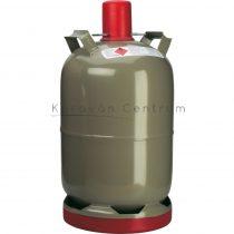 Acél gázpalack  9 kg-os, propángázzal töltve