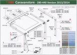 Caravanstore v2013 280-440 cm alkatrészek