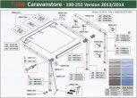 Caravanstore v2013 190-255 cm alkatrészek