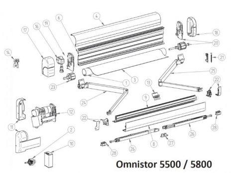 Thule/Omnistor 5500/5800 alkatrészek