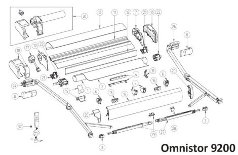 Thule/Omnistor 9200 alkatrészek