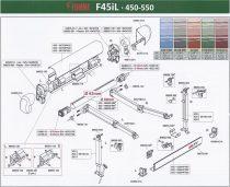 Fiamma F45iL fehér alkatrészek, 450-550 cm